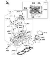 Cylinder Head ER-6N 2012(ER650ECF) - Kawasaki純正部品