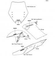 Decals(Black)(A9F) 1400GTR 2009(ZG1400A9F) - Kawasaki純正部品