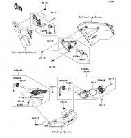 Turn Signals 1400GTR 2009(ZG1400A9F) - Kawasaki純正部品