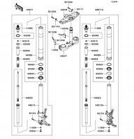 Front Fork(ZGT40A-022220sim 1400GTR 2009(ZG1400A9F) - Kawasaki純正部品