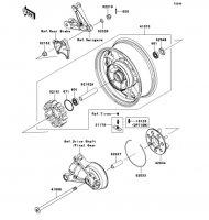 Rear Hub 1400GTR 2008(ZG1400A8F) - Kawasaki純正部品