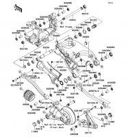 Swingarm 1400GTR 2008(ZG1400A8F) - Kawasaki純正部品