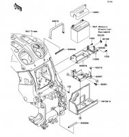 Battery Case 1400GTR 2008(ZG1400A8F) - Kawasaki純正部品