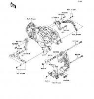Engine Mount 1400GTR 2008(ZG1400A8F) - Kawasaki純正部品