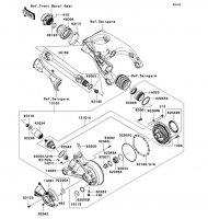 Drive Shaft/Final Gear 1400GTR 2008(ZG1400A8F) - Kawasaki純正部品