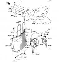 Radiator 1400GTR 2008(ZG1400A8F) - Kawasaki純正部品