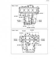 Crankcase Bolt Pattern 1400GTR 2008(ZG1400A8F) - Kawasaki純正部品