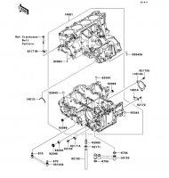 Crankcase 1400GTR 2008(ZG1400A8F) - Kawasaki純正部品