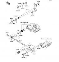 Gear Change Mechanism 1400GTR 2008(ZG1400A8F) - Kawasaki純正部品
