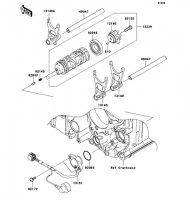 Gear Change Drum/Shift Fork(s) 1400GTR 2008(ZG1400A8F) - Kawasaki純正部品