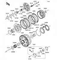 Clutch 1400GTR 2008(ZG1400A8F) - Kawasaki純正部品