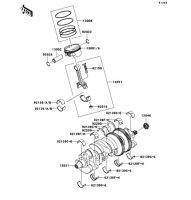 Crankshaft/Piston 1400GTR 2008(ZG1400A8F) - Kawasaki純正部品