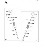 Valve(s) 1400GTR 2008(ZG1400A8F) - Kawasaki純正部品