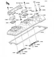Cylinder Head Cover 1400GTR 2008(ZG1400A8F) - Kawasaki純正部品