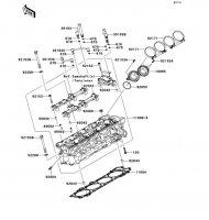 Cylinder Head 1400GTR 2008(ZG1400A8F) - Kawasaki純正部品