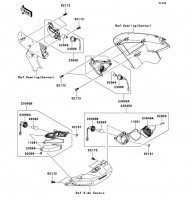 Turn Signals 1400GTR ABS 2013(ZG1400CDF) - Kawasaki純正部品