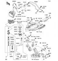 Rear Master Cylinder 1400GTR ABS 2013(ZG1400CDF) - Kawasaki純正部品