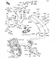 Brake Piping 1400GTR ABS 2013(ZG1400CDF) - Kawasaki純正部品