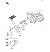 Brake Pedal 1400GTR ABS 2013(ZG1400CDF) - Kawasaki純正部品