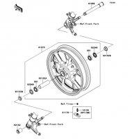 Front Hub 1400GTR ABS 2013(ZG1400CDF) - Kawasaki純正部品