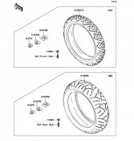 Tires 1400GTR ABS 2013(ZG1400CDF) - Kawasaki純正部品