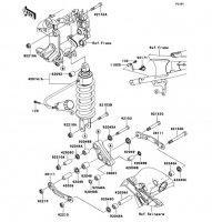 Suspension/Shock Absorber 1400GTR ABS 2013(ZG1400CDF) - Kawasaki純正部品