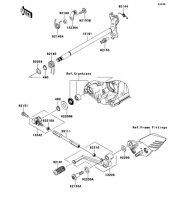 Gear Change Mechanism 1400GTR ABS 2013(ZG1400CDF) - Kawasaki純正部品