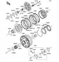Clutch 1400GTR ABS 2013(ZG1400CDF) - Kawasaki純正部品