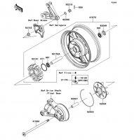 Rear Hub 1400GTR ABS 2012(ZG1400CCF) - Kawasaki純正部品