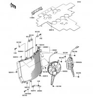 Radiator 1400GTR ABS 2012(ZG1400CCF) - Kawasaki純正部品