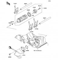 Gear Change Drum/Shift Fork(s) 1400GTR ABS 2012(ZG1400CCF) - Kawasaki純正部品