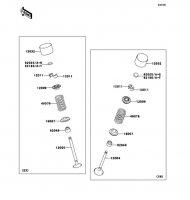 Valve(s) 1400GTR ABS 2012(ZG1400CCF) - Kawasaki純正部品