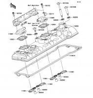 Cylinder Head Cover 1400GTR ABS 2012(ZG1400CCF) - Kawasaki純正部品
