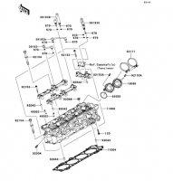 Cylinder Head 1400GTR ABS 2012(ZG1400CCF) - Kawasaki純正部品