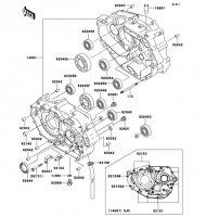 クランクケース D-TRACKER 2006(KLX250M6F) - Kawasaki純正部品
