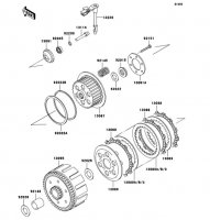 クラッチ D-TRACKER 2006(KLX250M6F) - Kawasaki純正部品