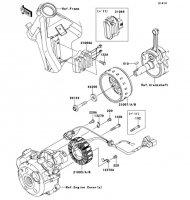 ゼネレータ D-TRACKER 125 2010(KLX125DAF) - Kawasaki純正部品