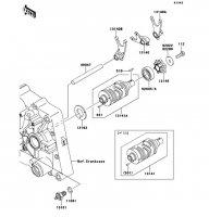 ギヤチェンジドラム/シフトフォーク D-TRACKER 125 2010(KLX125DAF) - Kawasaki純正部品