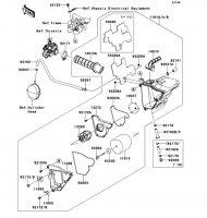 エアクリーナ D-TRACKER 125 2010(KLX125DAF) - Kawasaki純正部品