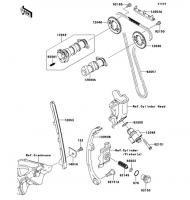 カムシャフト/テンショナ D-TRACKER X 2008(KLX250V8F) - Kawasaki純正部品