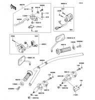 ハンドルバー ELIMINATOR 2006(BN125A6F) - Kawasaki純正部品