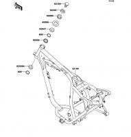 フレーム ESRRELLA-RS LIMITED EDITION 2006(BJ250G6F) - Kawasaki純正部品