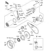 スタータモータ ESRRELLA-RS LIMITED EDITION 2006(BJ250G6F) - Kawasaki純正部品