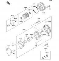 オイルポンプ ESRRELLA-RS LIMITED EDITION 2006(BJ250G6F) - Kawasaki純正部品
