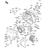 エンジンカバー ESRRELLA-RS LIMITED EDITION 2006(BJ250G6F) - Kawasaki純正部品