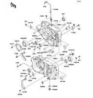 クランクケース ESRRELLA-RS LIMITED EDITION 2006(BJ250G6F) - Kawasaki純正部品