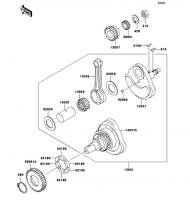 クランクシャフト ESRRELLA-RS LIMITED EDITION 2006(BJ250G6F) - Kawasaki純正部品
