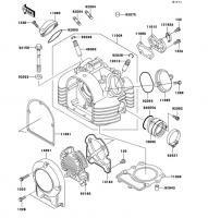 シリンダヘッド ESRRELLA-RS LIMITED EDITION 2006(BJ250G6F) - Kawasaki純正部品
