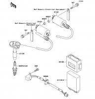 イグニッションシステム ZZR250 1990(EX250-H1) - Kawasaki純正部品