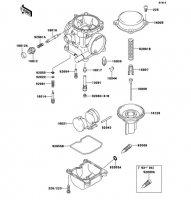 キャブレタパーツ ZZR250 1990(EX250-H1) - Kawasaki純正部品